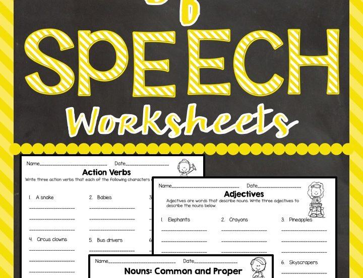 Parts of Speech Freebie #classroomfreebies #Partsofspeech