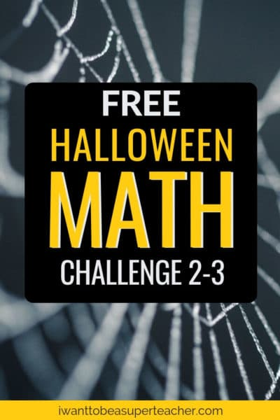 A FREE Halloween math printable. This October math challenge activity is perfect for advanced 2nd and 3rd grader students. Use this Halloween math worksheet for math centers, math homework, problem of the week, small groups, or a Halloween fast finisher. Fun for kids and NO PREP for teachers! Click for the free download. #halloween #free #freebie #secondgrade #thirdgrade #math #classroomfreebies