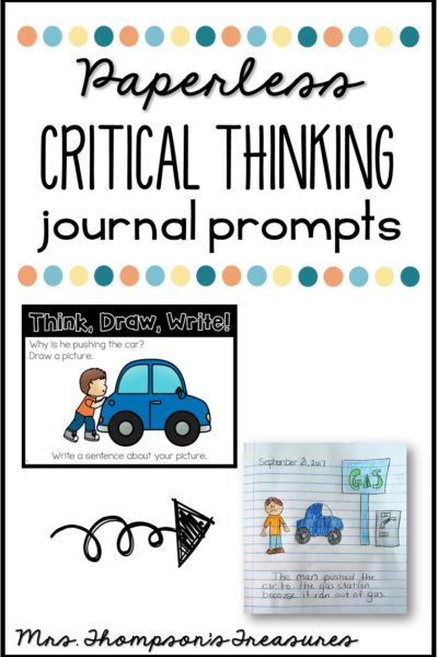 Critical Thinking Paperless Journal Prompts