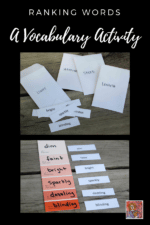 Paint Chip Vocabulary Activity
