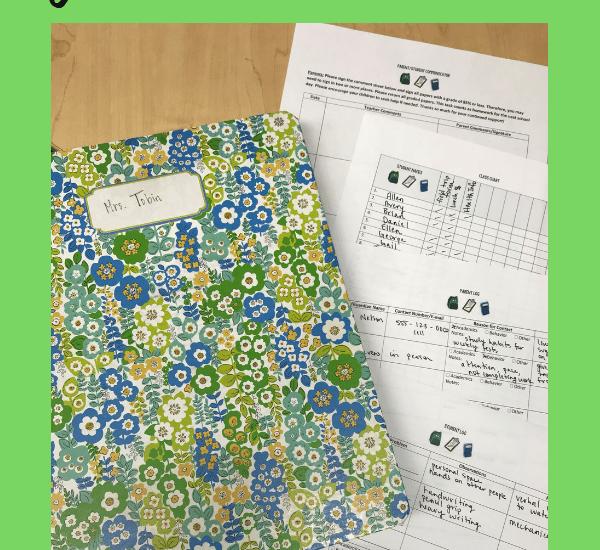 teacher binder materials