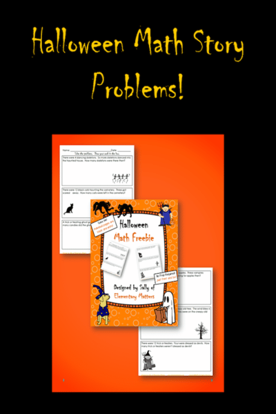 Math Story Problems with a Halloween Theme!
