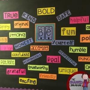 be you an inspirational bulletin board classroom freebies