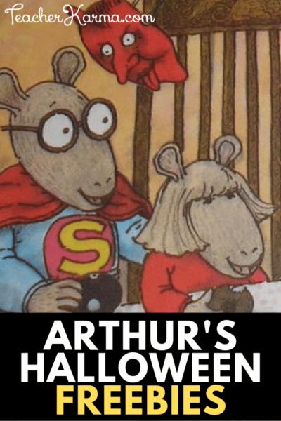 Arthur's Halloween Freebies for Reading