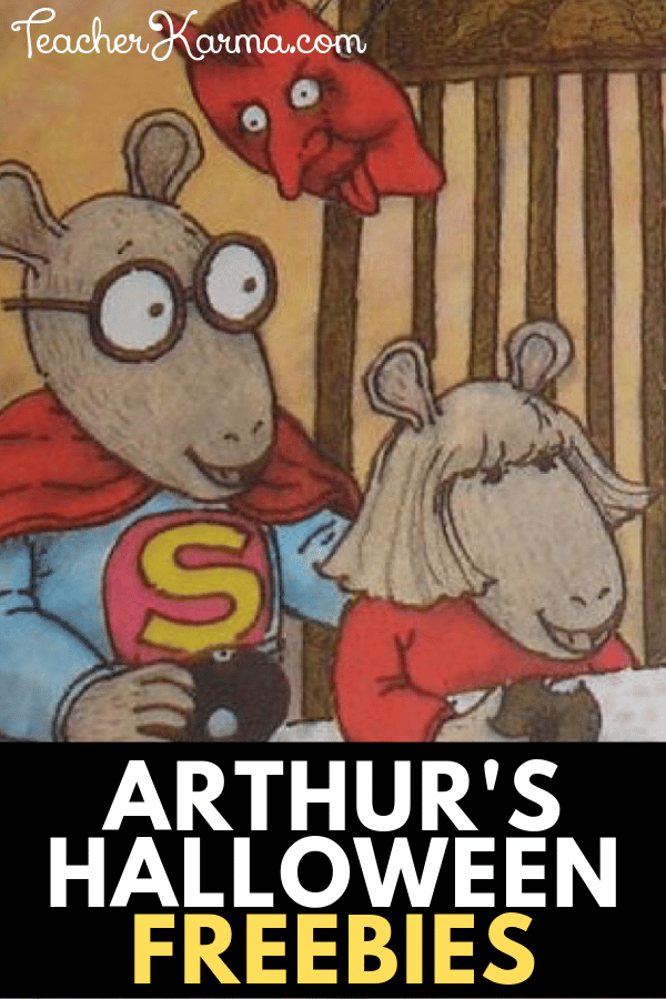 Free reading resources for Halloween and Fall. Arthur's Halloween printables for reading. #halloween #arthurshalloween #marcbrown #tpt #teacherkarma #teacherspayteachers