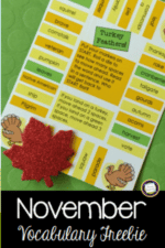 Teaching November Vocabulary with Books and Games