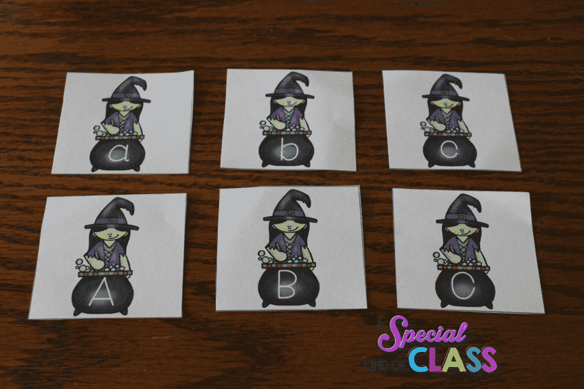 Free Halloween alphabet match for kindergarten #halloween #kindergartenfreebie #alphabetmatch