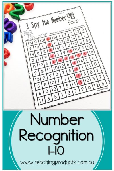 Number Recognition I Spy