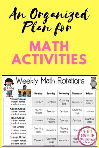 An Organized Plan for Math Activities