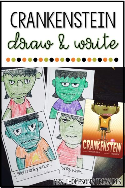 Fun writing and drawing activity for the book Crankenstein. #reading #Halloween