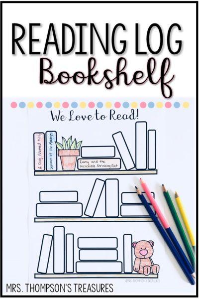 Free bookshelf reading log template to record books read. #bulletjournal #reading