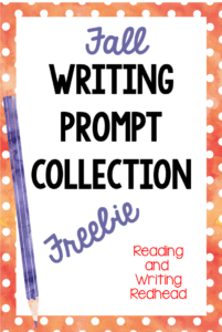 fall writing prompt, #classroomfreebies