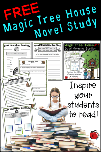 Free Magic Tree House novel study Good Morning, Gorillas Terri's Teaching Treasures