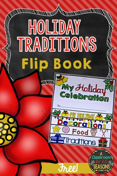 Holiday Traditions Flip Book #holidaylesson