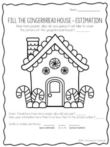 Free gingerbread estimation activity