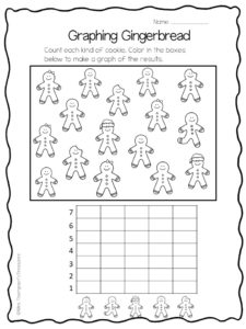 gingerbread count and graph free activity