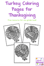 Turkey Coloring Pages for Thanksgiving
