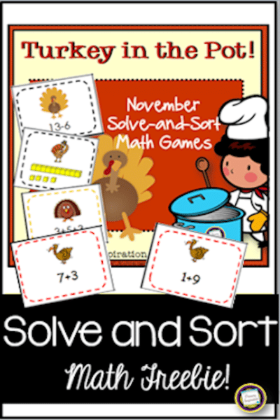 Sums of Ten: Let's Talk Turkey! #math