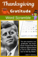 Thanksgiving Gratitude Quote – Perfect for Elementary and Middle School Kids