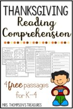Free Thanksgiving Reading Comprehension