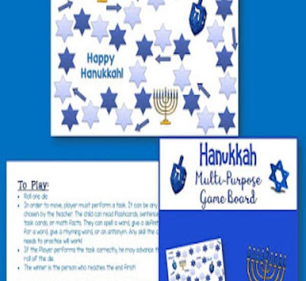 Hanukkah Game Board Freebie