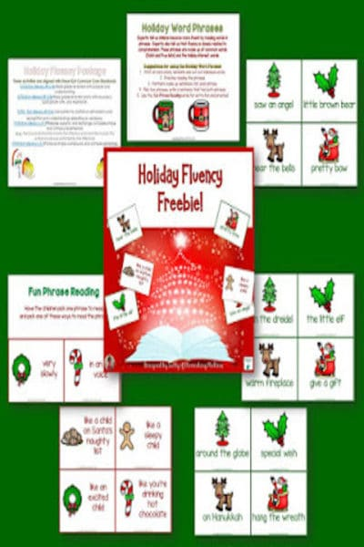 Holiday Fluency #sightwords