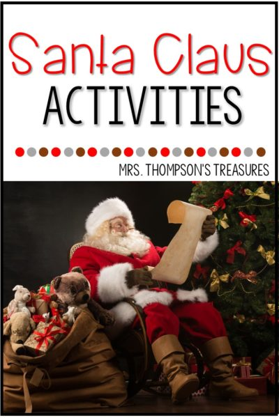 Free printable activities about Santa Claus