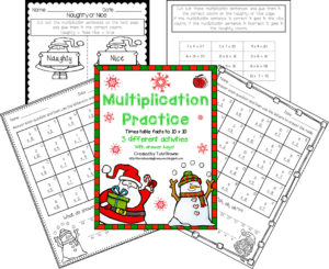 Free Christmas multiplication activities Terri's Teaching Treasures