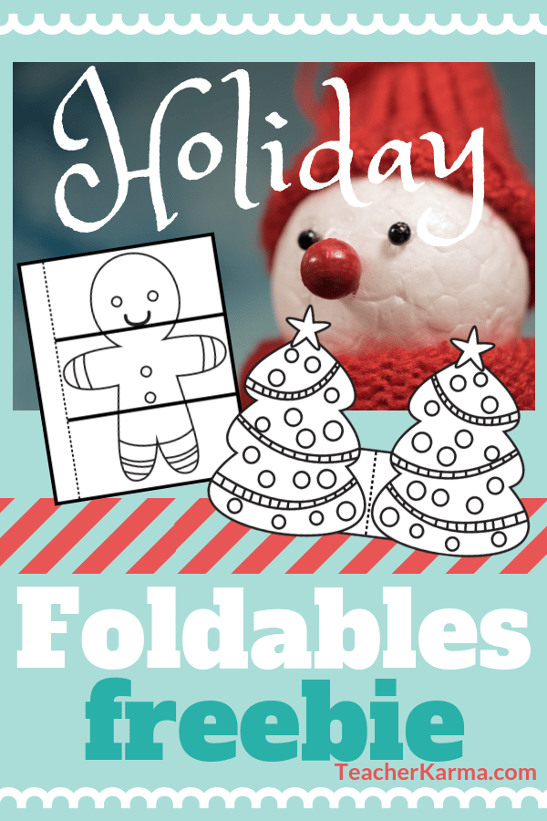 Christmas foldable freebies for interactive notebook #christmas #interactivenotebook #teacherkarma #christmasfoldable