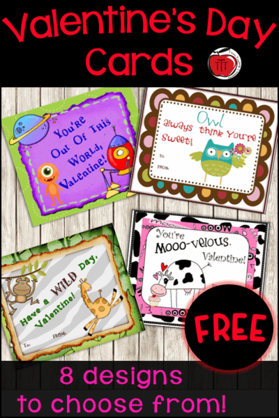 Free Valentine's Day Cards Terri's Teaching Treasures