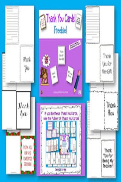 Thank You Cards #classroomfreebies