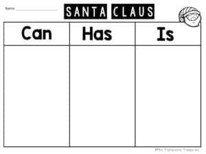 Santa chart printable