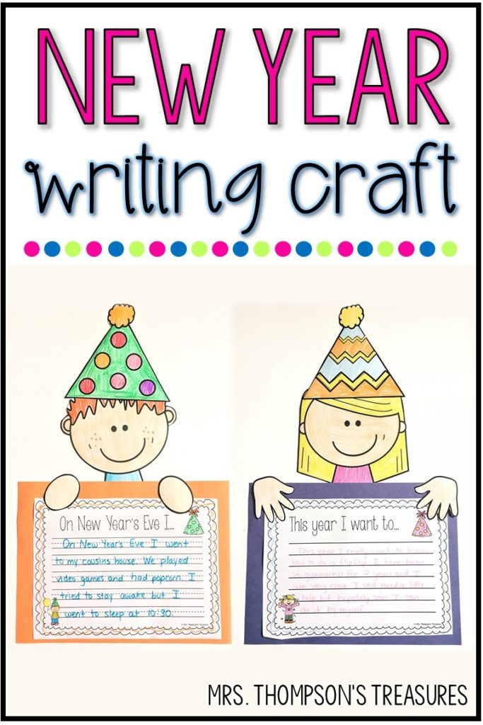 Free New Year's writing craft templates and prompts.