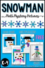 Snowman Math Free Mystery Pictures