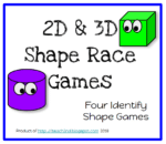 2D & 3D Shape Race Game