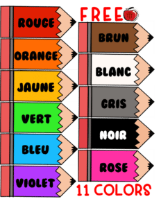 Free French Color posters for the classroom Terri's Teaching Treasures