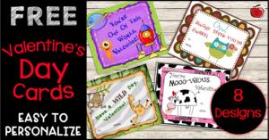 Free Valentine's Day Cards Terri's Teaching Treasures