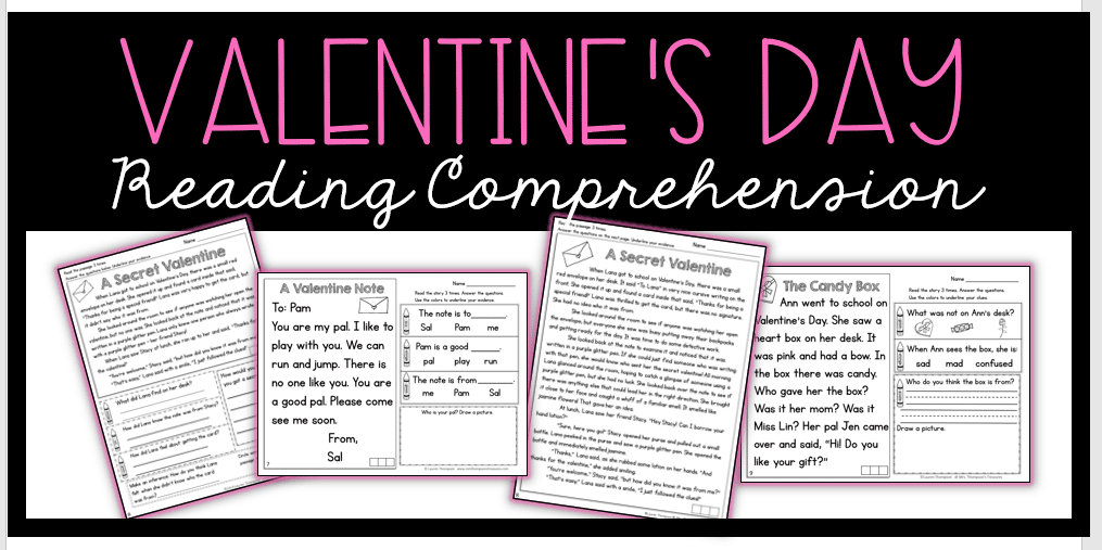 Free Valentine's Day Reading Comprehension