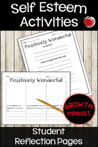 positive self-esteem worksheets growth mindset Terri's Teaching Treasures
