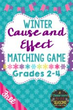 Winter Cause and Effect Matching Game