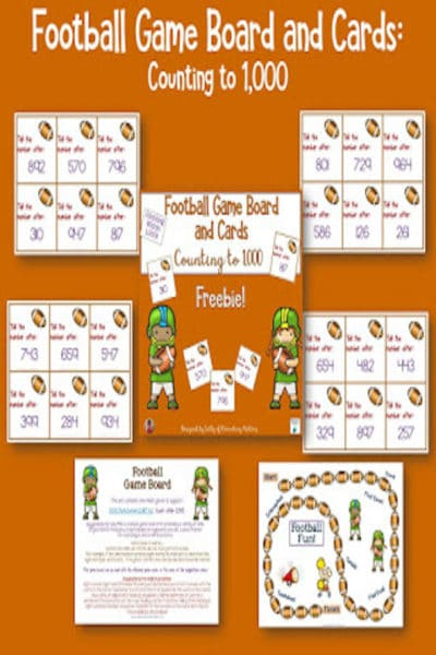 Football Themed Board Game: Counting to 1,000