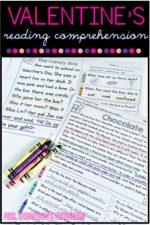Valentine's Day Reading Comprehension for K-4