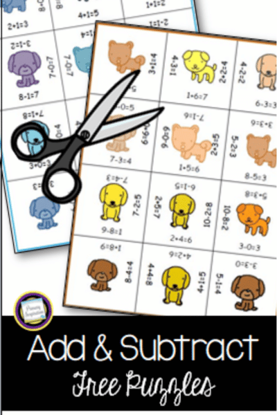 fact families addition and subtraction puzzles