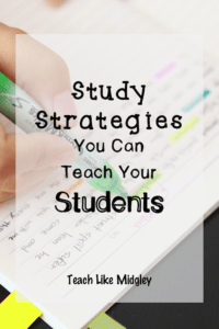 Study Strategies for Students