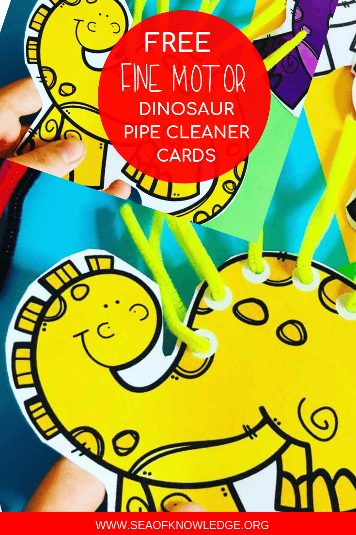 Colour Match Fine Motor Dinosaur Cards