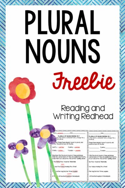 Plural nouns free, #cf, #classroomfreebies