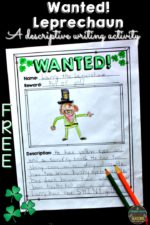 St. Patrick's Day Descriptive Writing