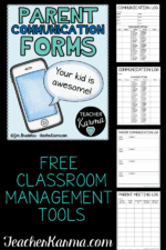 Parent Communication Log Freebies