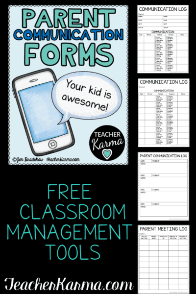 Free Parent Communication Logs to improve family relationships and make documenting contacts a snap! #teacherkarma #classroomfreebies #1stgrade #2ndgrade #3rdgrade #4thgrade #5thgrade #communicationlogs