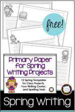 Writing Paper for Your Spring Projects